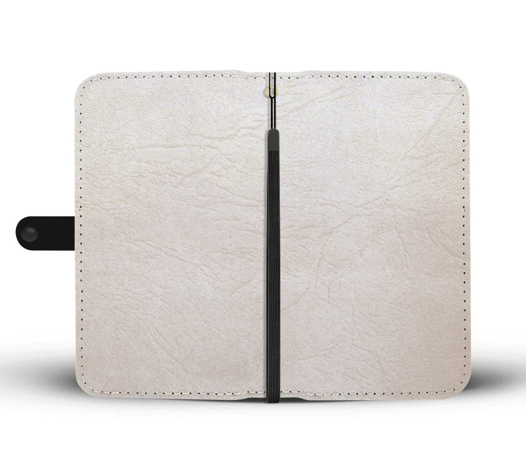 Ivory Leather Cell Phone Wallet Case