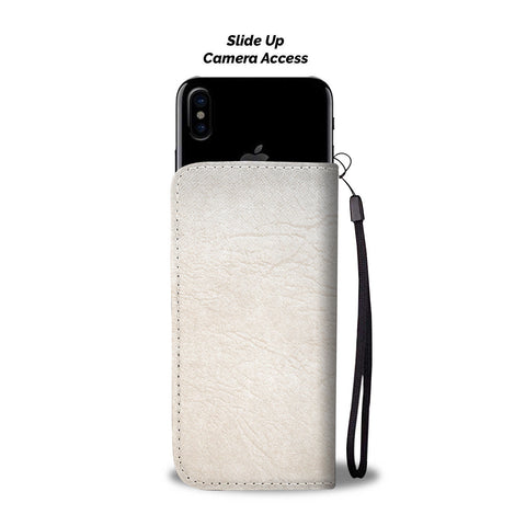 Image of Ivory Leather Cell Phone Wallet Case