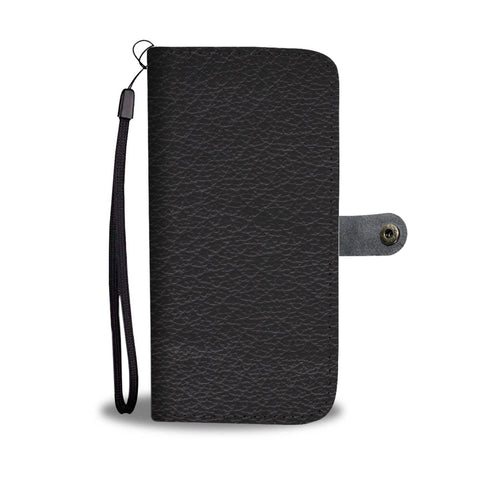Image of Black Leather Cell Phone Wallet Case