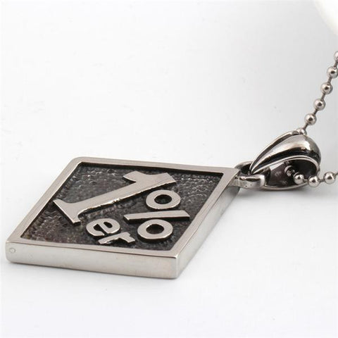 Image of One Percenter Biker Club Pendant with Necklace
