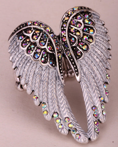 Angel Wings Adjustable Ring