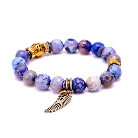 Angel Wing Soothing Stones Bracelet