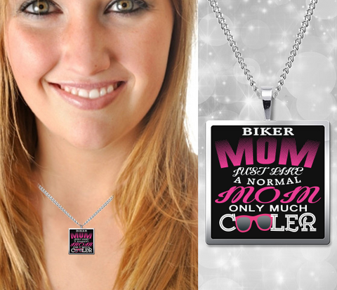 Image of Biker Mom Necklace