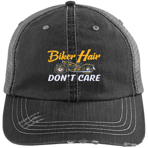 Biker Hair Don't Care Women's Trucker Hat