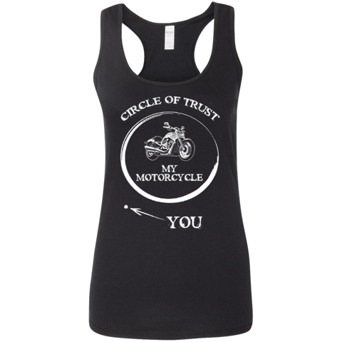 Image of Ladies' Softstyle Racerback Circle Of Trust Tank
