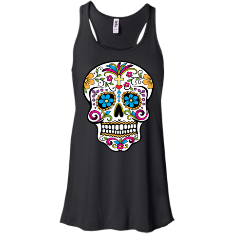 Cross Sugar Skull Flowy Tank