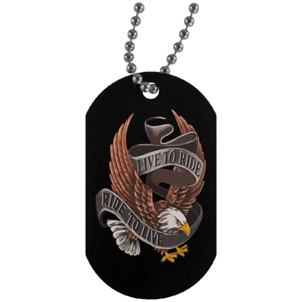 (Three) Live To Ride Dog Tags