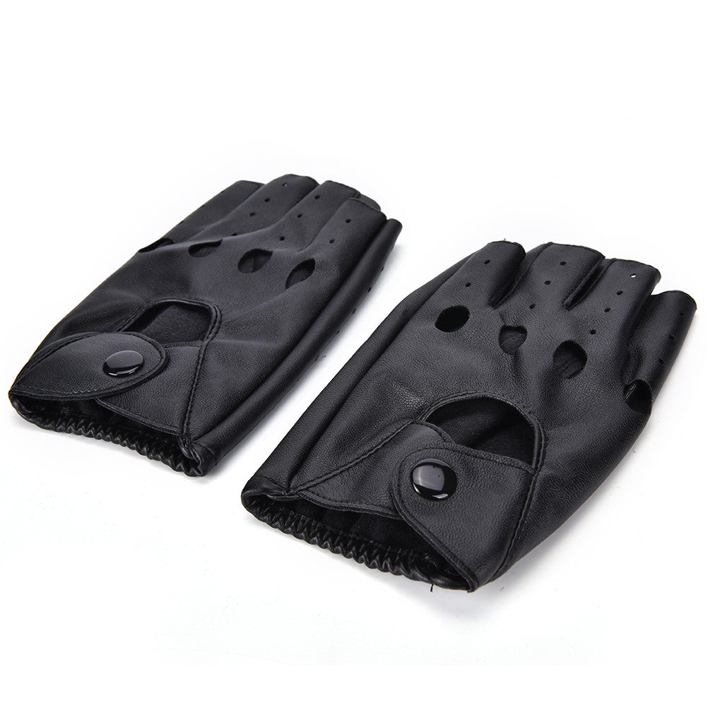 Leather Fingerless Driving Gloves