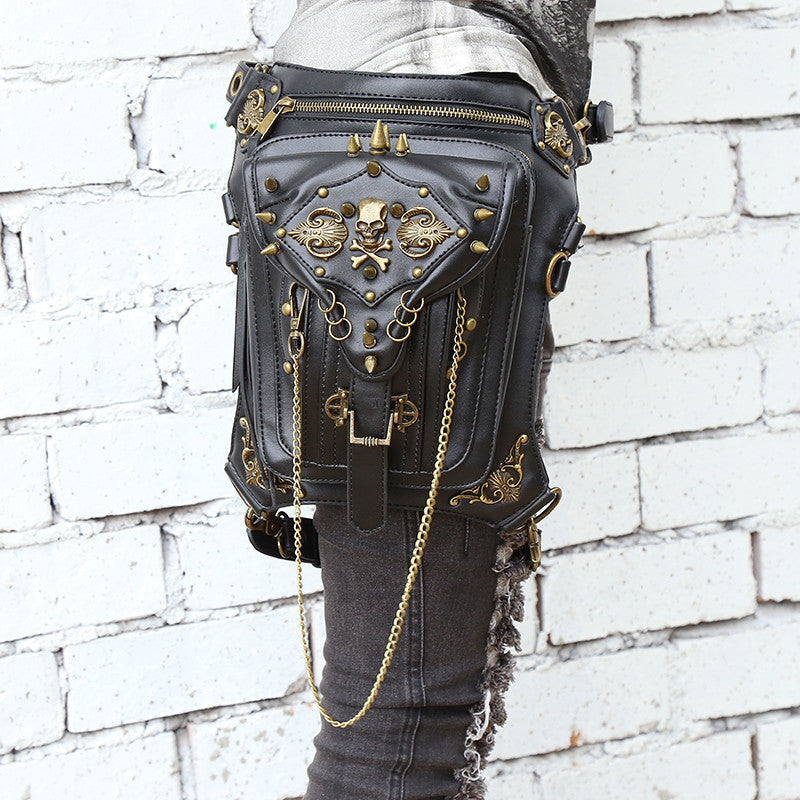 Genuine Leather Hip and Thigh Bag