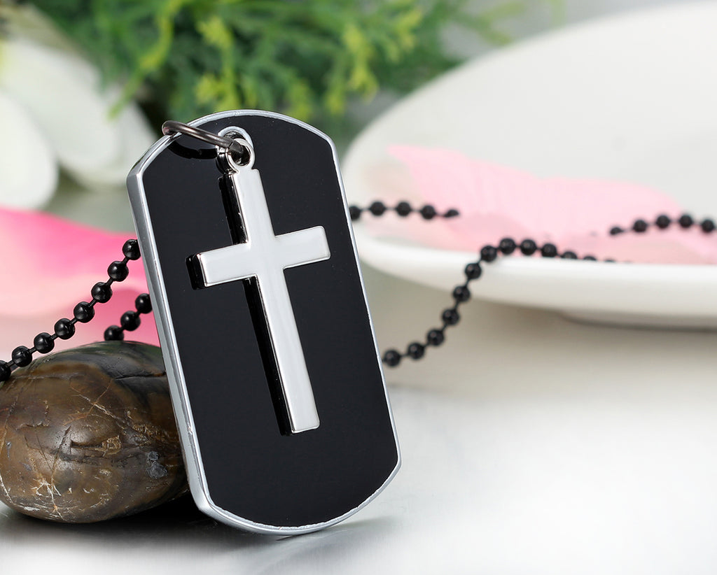 Stainless Steel Cross Dog Tag