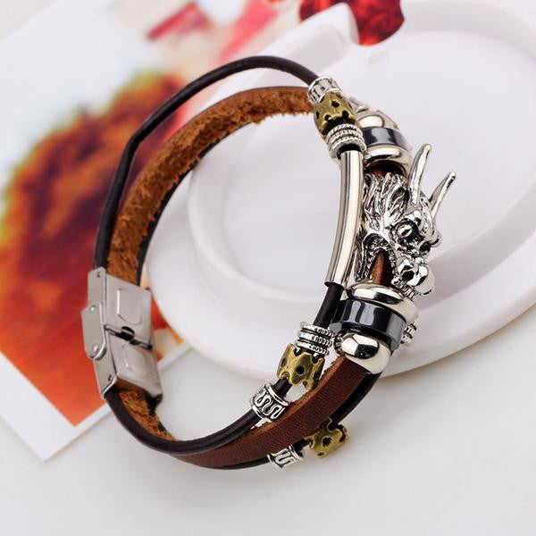 Hand Made Dragon Leather Bracelet