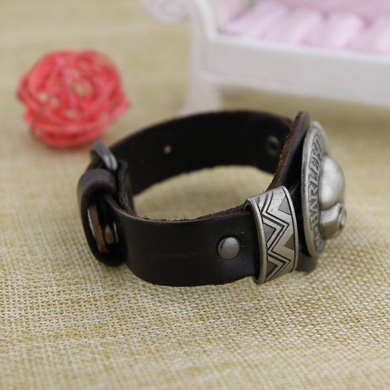 (One Time Offer) Handmade HD Leather Bracelet