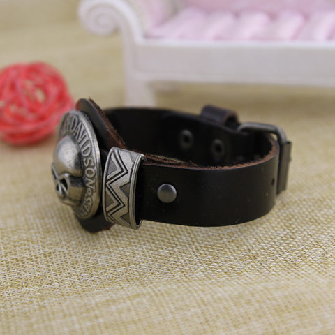 Image of (One Time Offer) Handmade HD Leather Bracelet