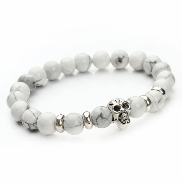 (Limited Time Offer) Handmade Lava Stones Skull Bracelets