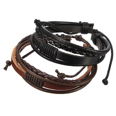 Image of Hand Woven Leather Bracelet