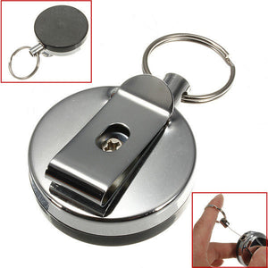Retractable Stainless Steel Key Ring