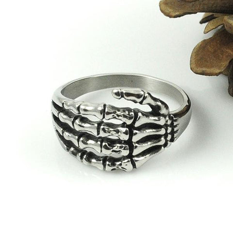 Stainless Steel Bone Hand Ring