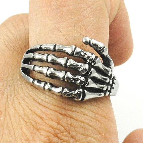Image of Stainless Steel Bone Hand Ring