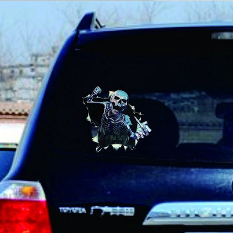 Image of Skull Tank Sticker