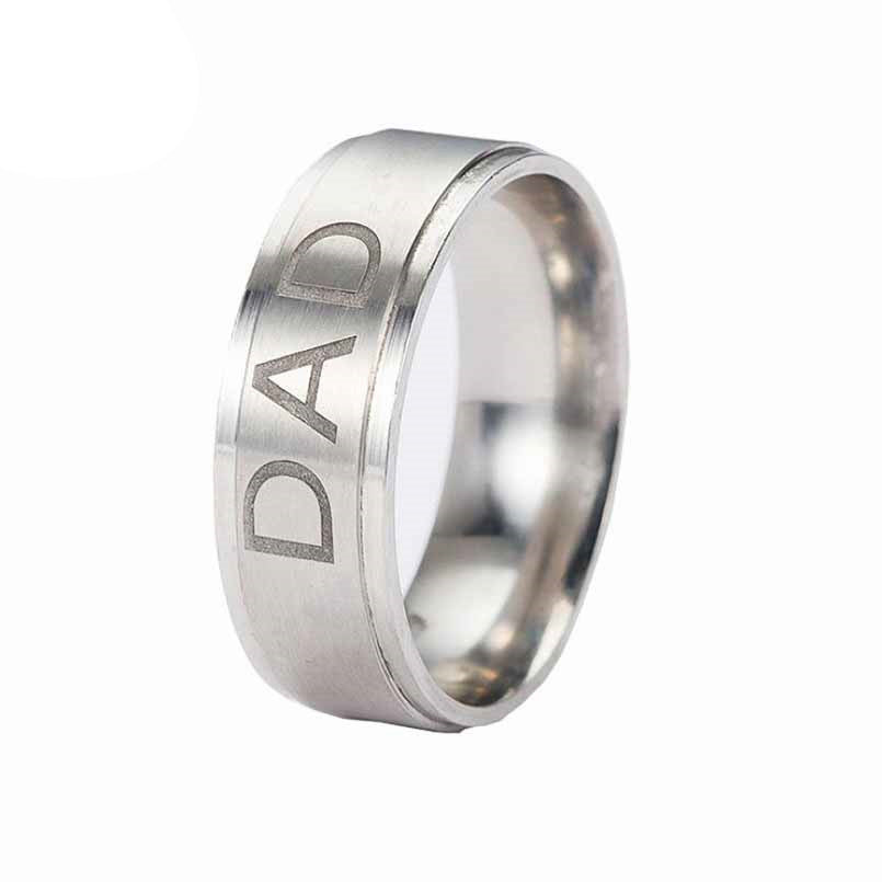 Stainless Steel Dad Ring