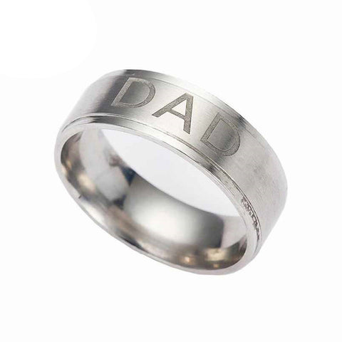 Image of Stainless Steel Dad Ring