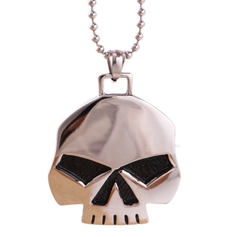 Stainless Steel Skull Pendant and Necklace Set