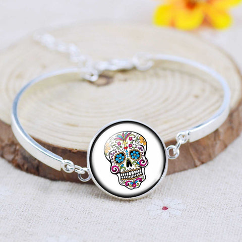 Image of ($9.95) Cross Sugar Skull Jewelry Set