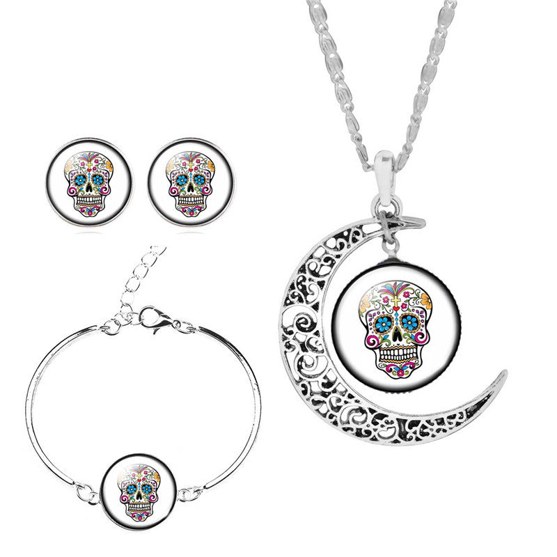 ($9.95) Cross Sugar Skull Jewelry Set