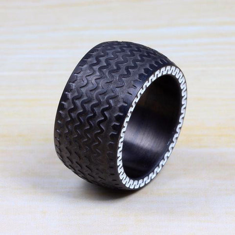 Image of Titanium Steel Tire Tread Ring