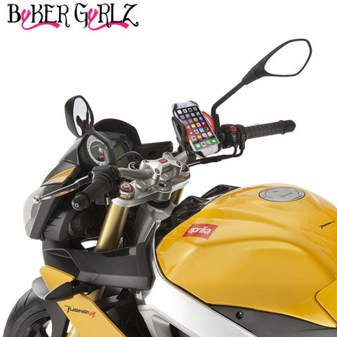 Image of Motorcycle Cell Phone Mount - For iPhone 6 (5, 6s Plus), Samsung Galaxy Note or any Smartphone
