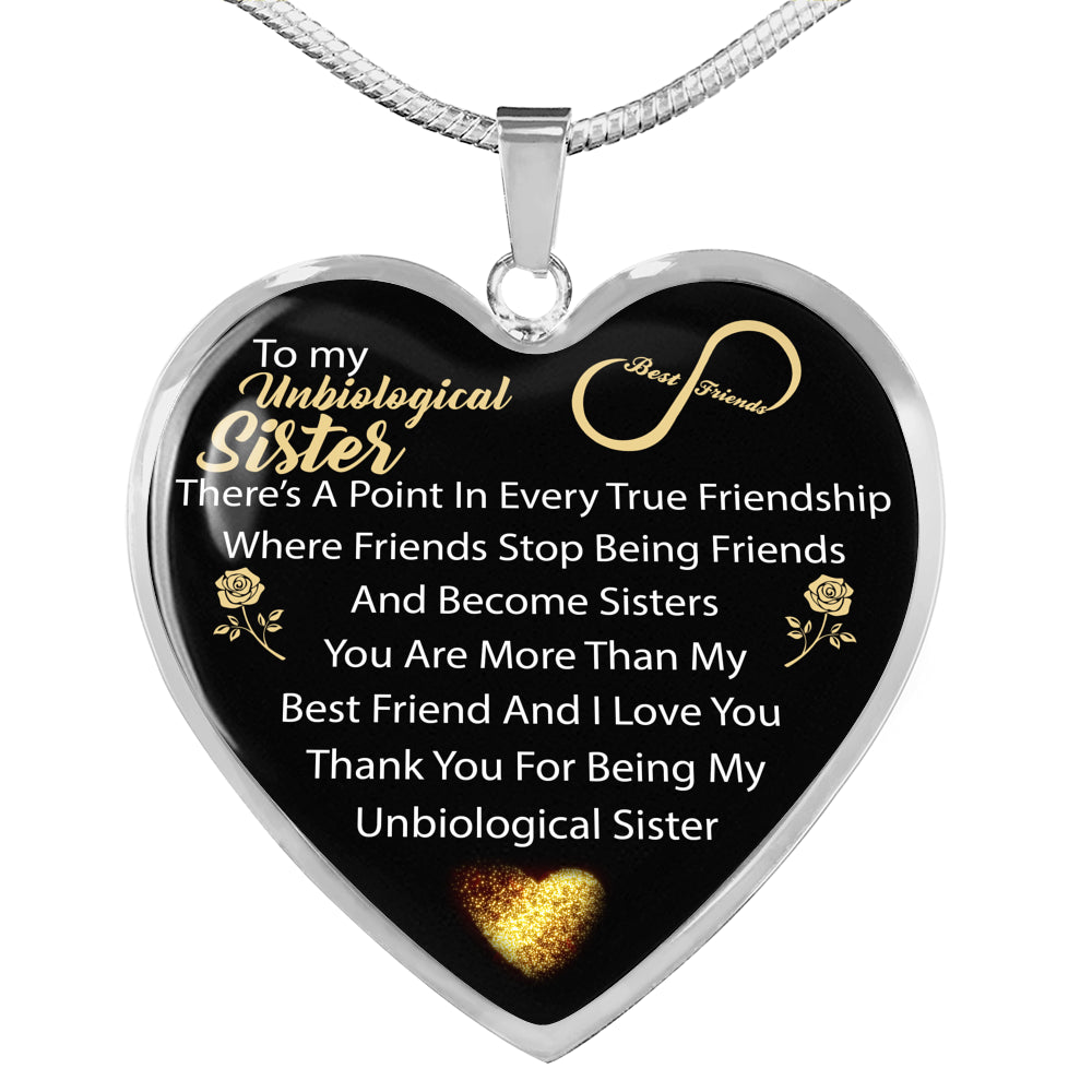 Unbiological Sister Heart Necklace