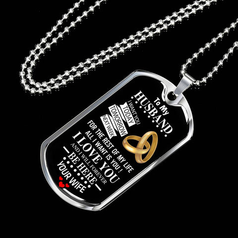 Image of To My Husband Luxury Military Tag Set
