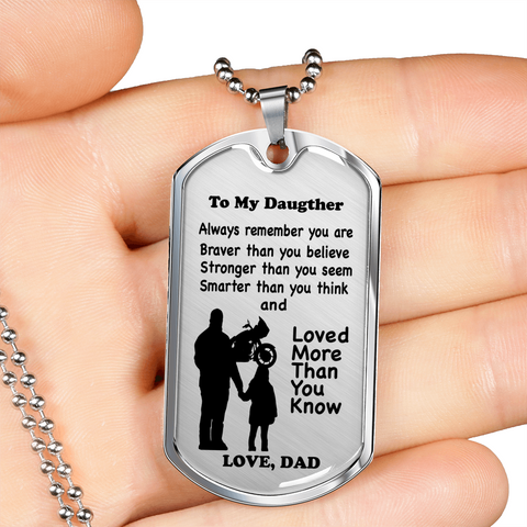 """To My Daughter"" Tag Style Necklace"
