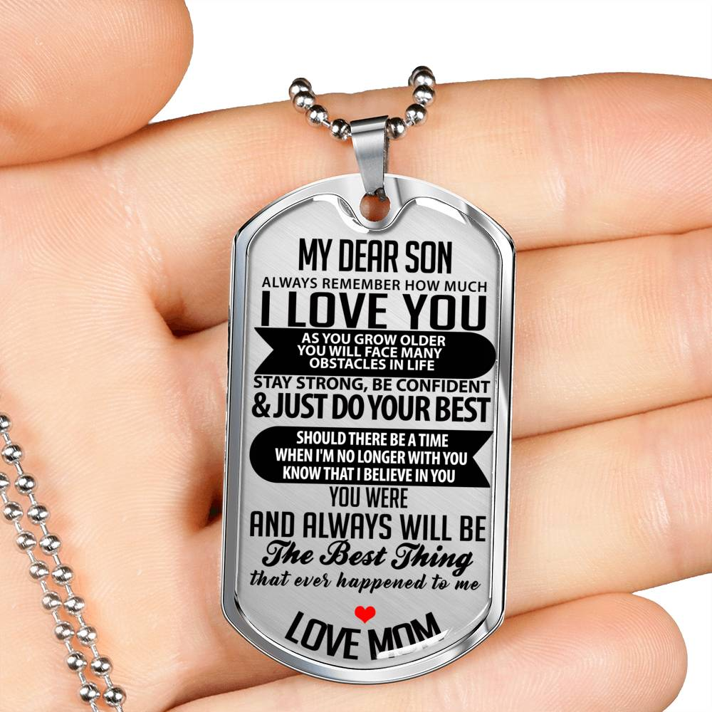 4 My Dear Son Luxury Tag Necklaces (Four Necklaces)