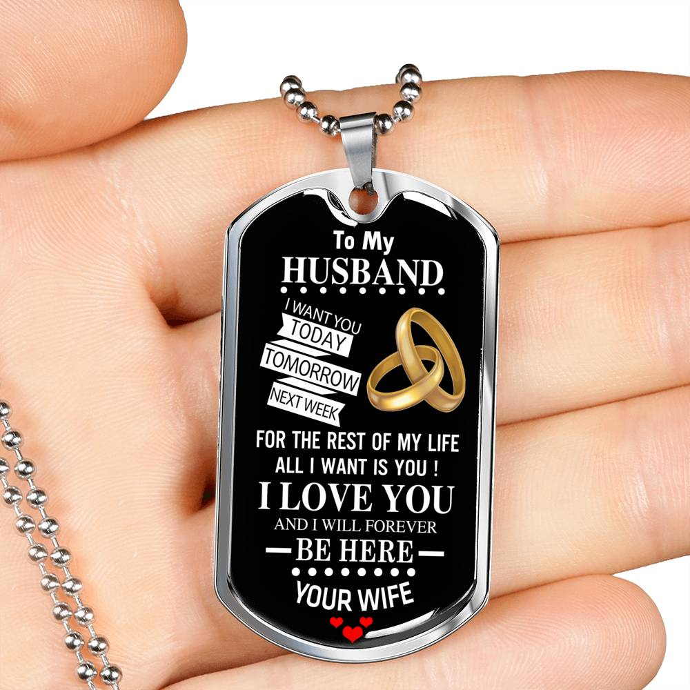 To My Husband Luxury Military Tag Set