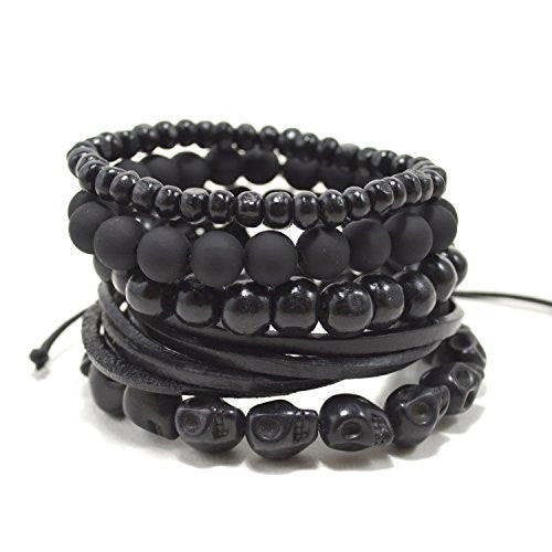 5 Pack Black Out Bracelet Set