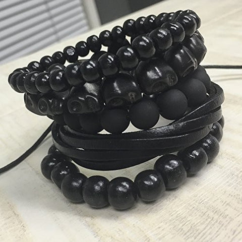 Image of 5 Pack Black Out Bracelet Set