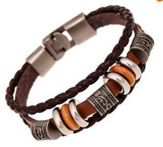 Image of Bracelets - Hand Braided Brown Leather Bracelet