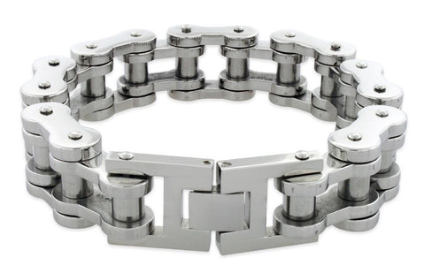 Image of Bracelets - Thick Motorcycle Chain Bracelet