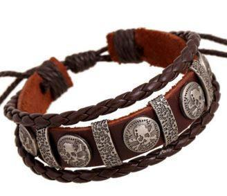 Bracelets - Tribal Genuine Leather Braided Bracelet
