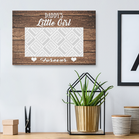 Image of Daddy's Little Girl Personalized Wall Art