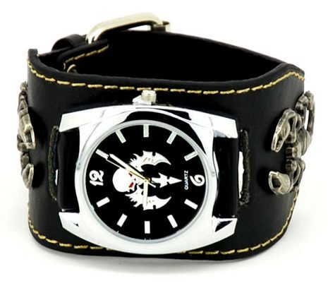 Casual Watches - Leather Band Motorcycle Watch With Scorpions