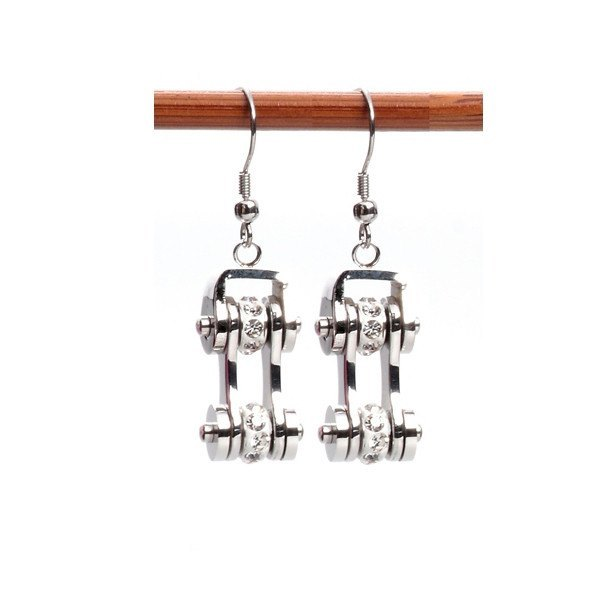 Earrings - Motorcycle Chains Drop Earrings