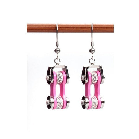 Image of Earrings - Motorcycle Chains Drop Earrings