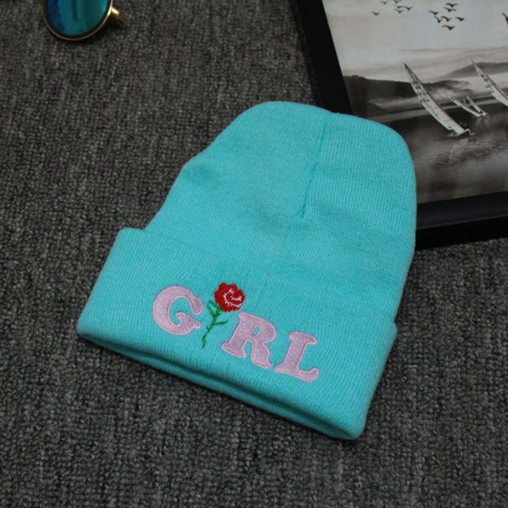 Embroidered Girl Beanies