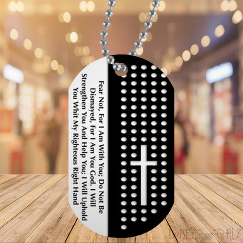 Image of 1 Fear Not Dog Tag (One)