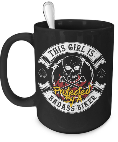 Image of Protected By A Biker Mug