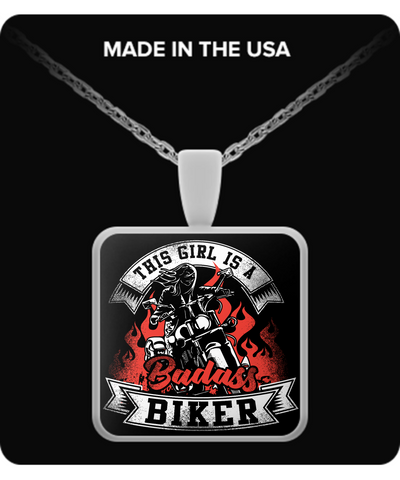 Image of Bad Biker Girl Necklace