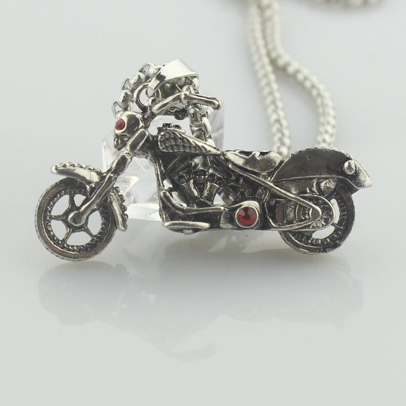 Ghost Rider Vintage Motorcycle SS Necklace Set