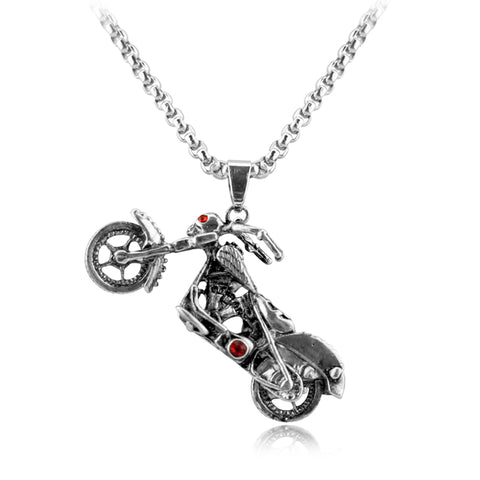 Image of Ghost Rider Vintage Motorcycle SS Necklace Set